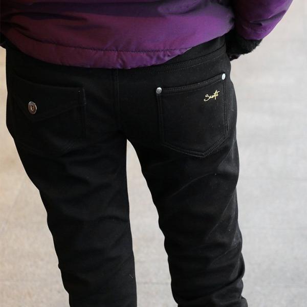 【伸びパン割】【A-暖か裏付】パンツ スリム テーパード スキニー レギンスパンツ 【フリース 裏地 裏起毛】 (スパンツ) spants 40代 50代|paty|03
