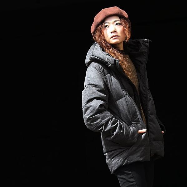 ダウンジャケット メンズ  メンズダウンジャケット メンズ ボリュームネック フード付き 冬 軽量 保温|paty|15