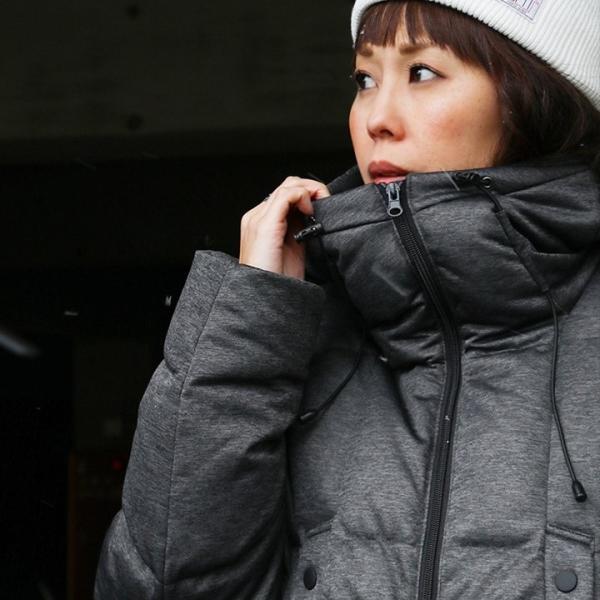 ダウンジャケット メンズ  メンズダウンジャケット メンズ ボリュームネック フード付き 冬 軽量 保温|paty|04