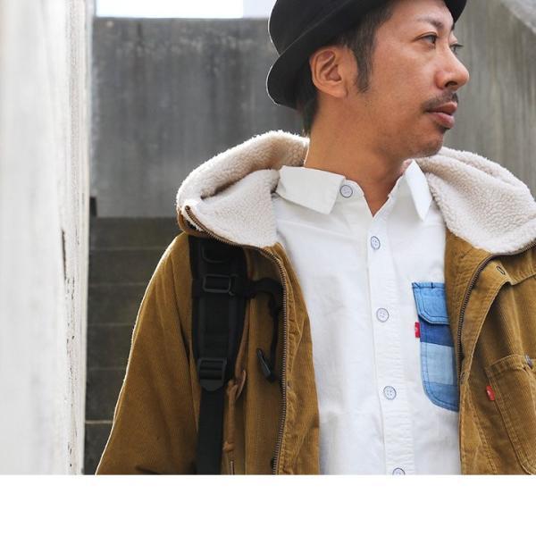 ボア フードジャケット 長袖 ジャケット アウター コーデュロイ ユーズド加工 裏地ボア(ジーアールエヌ) grn paty 07