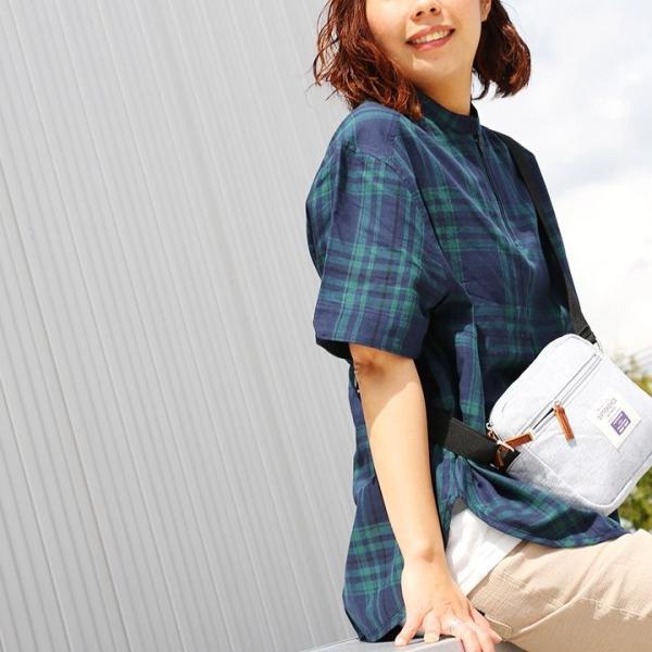 シャツ プルオーバー 半袖 ネック ハーフジップ付き コットン100% 綿100% ブラックウォッチ (セイル) SAIL  レディース メンズ|paty|13