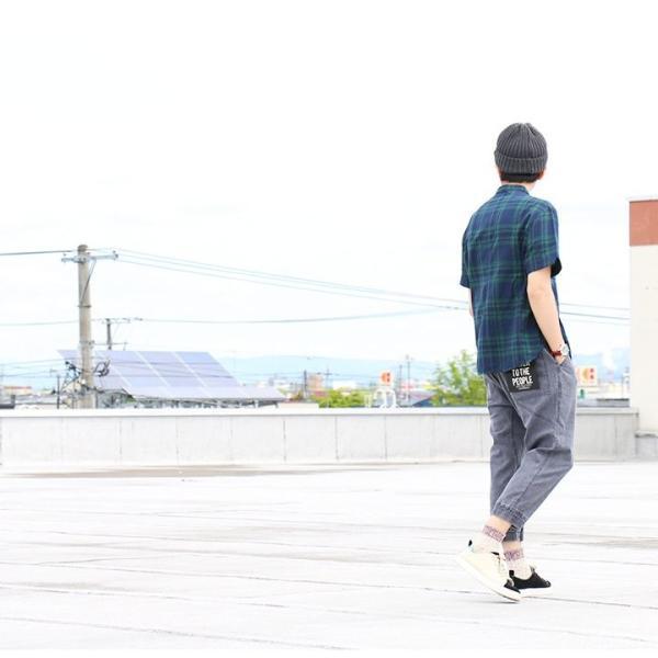 シャツ プルオーバー 半袖 ネック ハーフジップ付き コットン100% 綿100% ブラックウォッチ (セイル) SAIL  レディース メンズ|paty|17