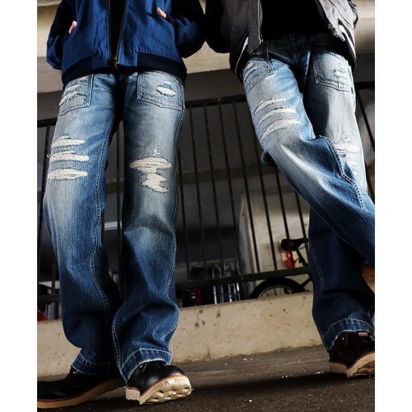 「13年JEANS」ヴィンテージ ストレート デニム byIwato. ジーンズ (ブルート) BLUETO  レディース メンズ paty 06