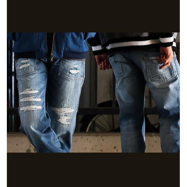 「13年JEANS」ヴィンテージ ストレート デニム byIwato. ジーンズ (ブルート) BLUETO  レディース メンズ paty 07