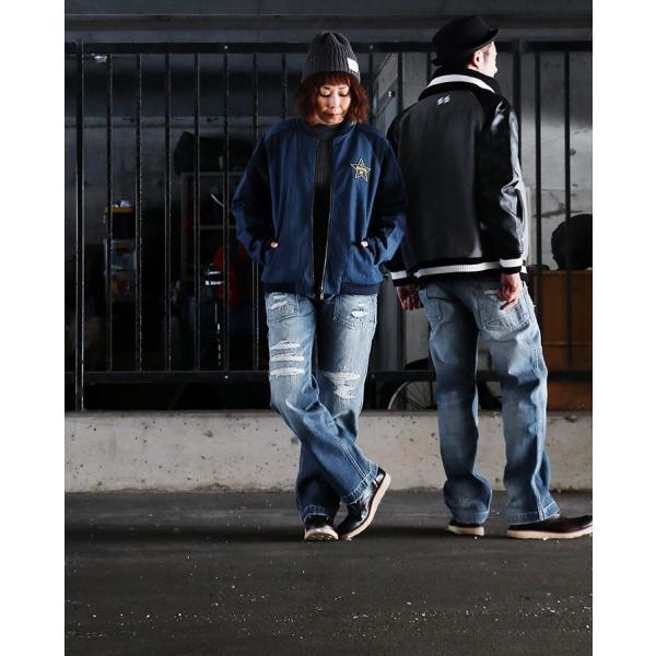 「13年JEANS」ヴィンテージ ストレート デニム byIwato. ジーンズ (ブルート) BLUETO  レディース メンズ paty 08
