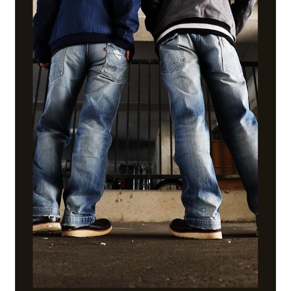 「13年JEANS」ヴィンテージ ストレート デニム byIwato. ジーンズ (ブルート) BLUETO  レディース メンズ paty 09