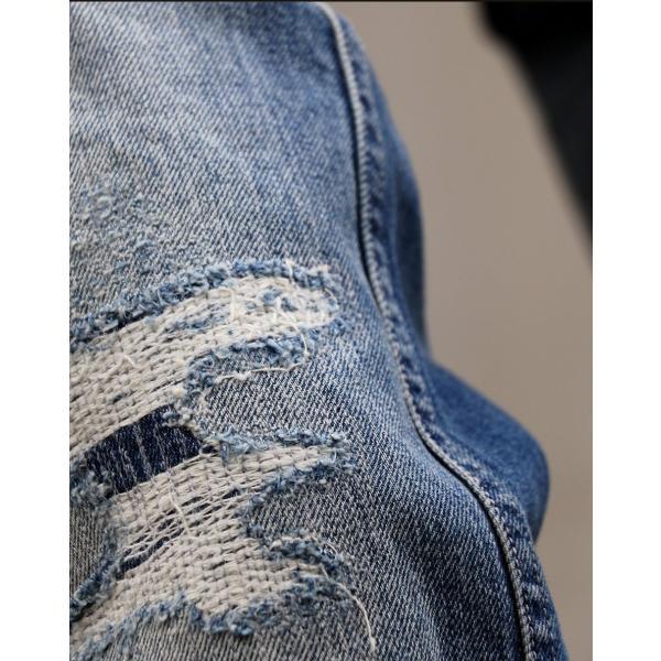 「13年JEANS」ヴィンテージ ストレート デニム byIwato. ジーンズ (ブルート) BLUETO  レディース メンズ paty 10