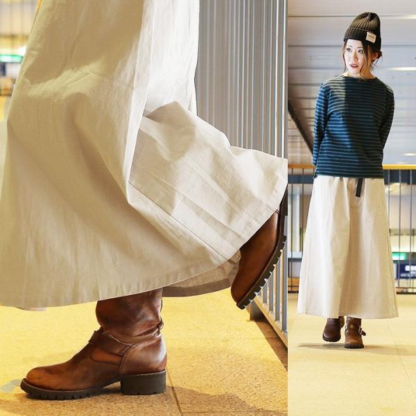 スカート マキシ丈 春夏 ロングスカート クライミング ウェビングベルト ストレッチ フレア レディース Spants paty 08