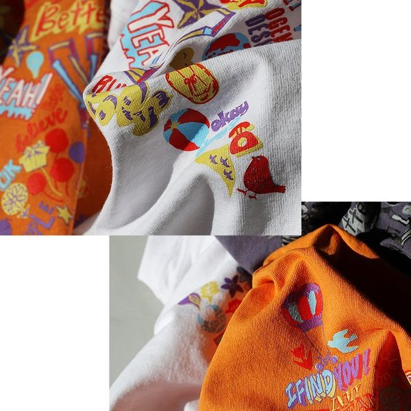 Tシャツ 半袖  メンズ クルーネック 配色 ノルディック 星 スター バック プリント レディース TOneontoNE おしゃれ|paty|05