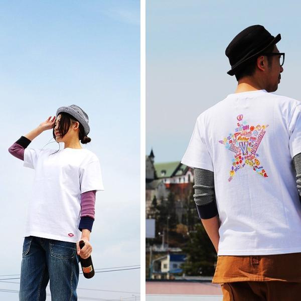 Tシャツ 半袖  メンズ クルーネック 配色 ノルディック 星 スター バック プリント レディース TOneontoNE おしゃれ|paty|06