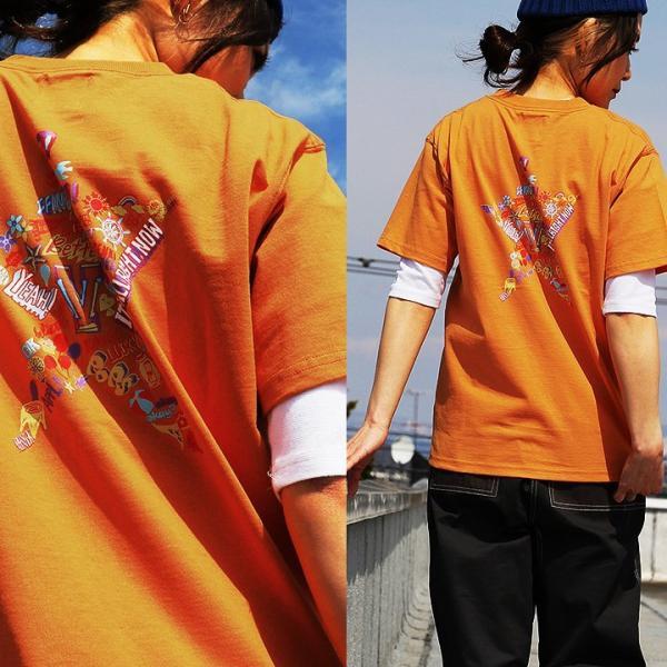 Tシャツ 半袖  メンズ クルーネック 配色 ノルディック 星 スター バック プリント レディース TOneontoNE おしゃれ|paty|07