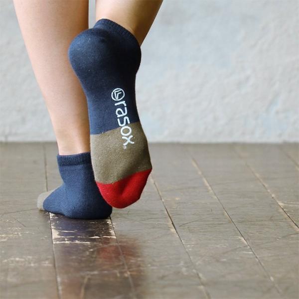スニーカーソックス ソックス くるぶし丈 靴下 配色切替 コットン リネン 日本製 夏 メンズ レディース rasox paty 05