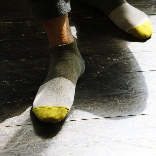 スニーカーソックス ソックス くるぶし丈 靴下 配色切替 コットン リネン 日本製 夏 メンズ レディース rasox paty 06