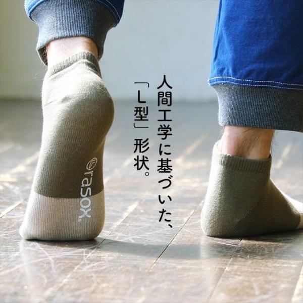 スニーカーソックス ソックス くるぶし丈 靴下 配色切替 コットン リネン 日本製 夏 メンズ レディース rasox paty 07