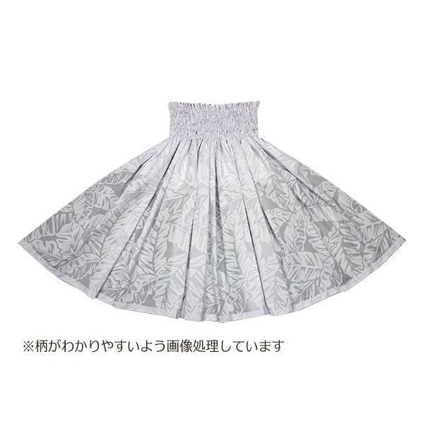 白のパウスカート バナナリーフ柄 2681WH フラダンス 衣装 pauskirt 03
