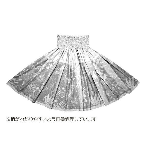 白のパウスカート オーキッド・トライバルリーフ柄 2693WH フラダンス 衣装|pauskirt|03