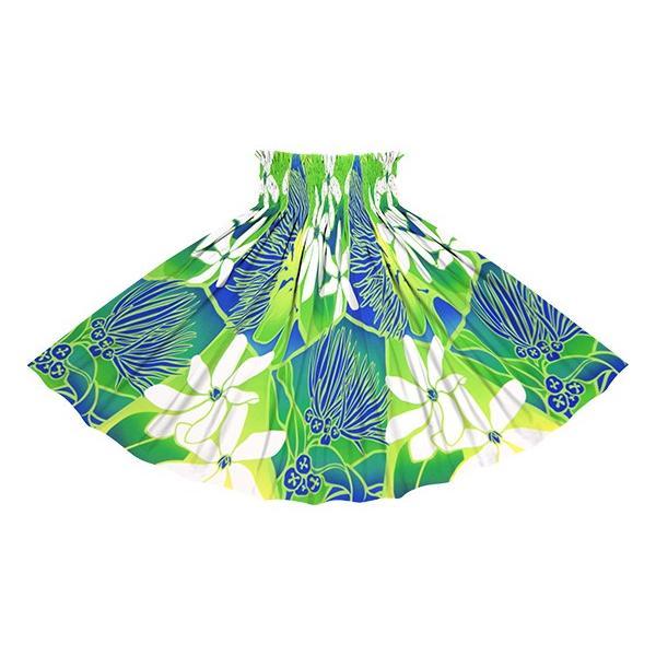 きみどりのパウスカート ティアレ・レフア・グラデーション柄 spau-2773LG フラダンス 衣装|pauskirt