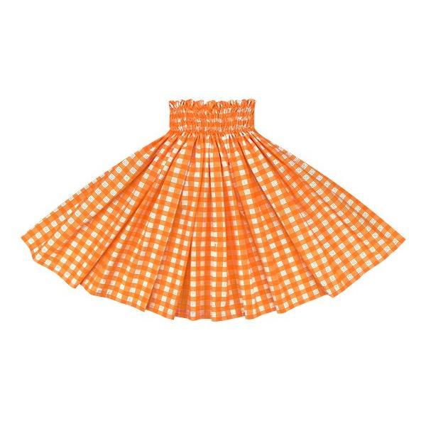 オレンジのパウスカート パラカ柄 2028OR フラダンス 衣装|pauskirt