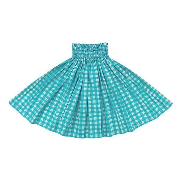 水色のパウスカート パラカ柄 2028AQ フラダンス 衣装|pauskirt