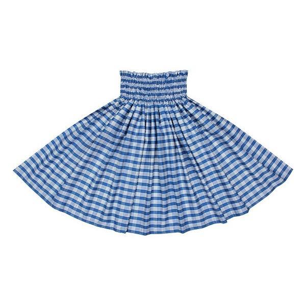 青のコットンパウスカート パラカ柄 綿100% ctt-palaka フラダンス 衣装|pauskirt