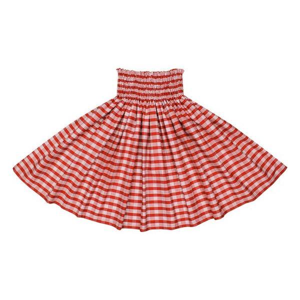 赤のコットンパウスカート パラカ柄 綿100% ctt-palaka フラダンス 衣装 pauskirt