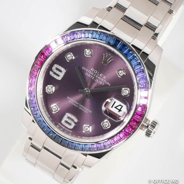 new arrivals 71ea3 19d3a [ロレックス] ROLEX 腕時計 パールマスター39 K18WG 86349SAFUBL メンズ 自動巻 美品 国内正規品