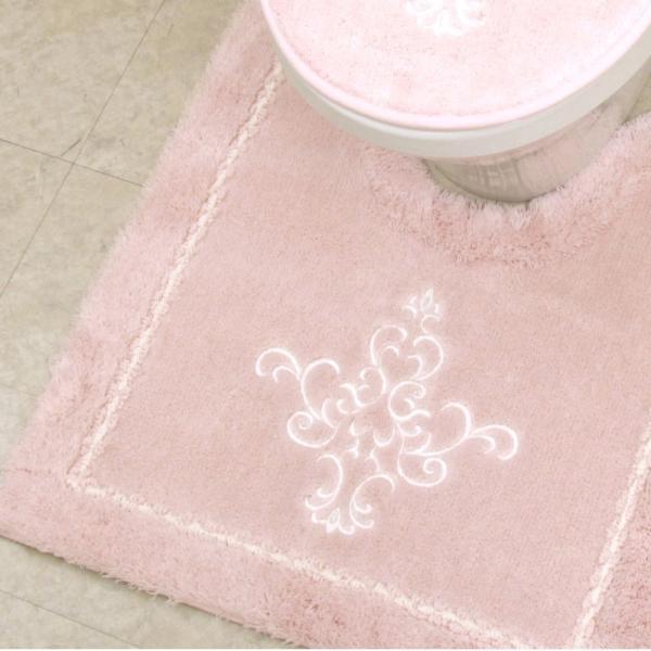 福袋 トイレマット 4点セット 送料無料  洗面マット フタカバー 安い お得 おしゃれ 高級 オーナメント柄 アラベスク 洗える ピンク ホワイト お得 pbh-shop 16