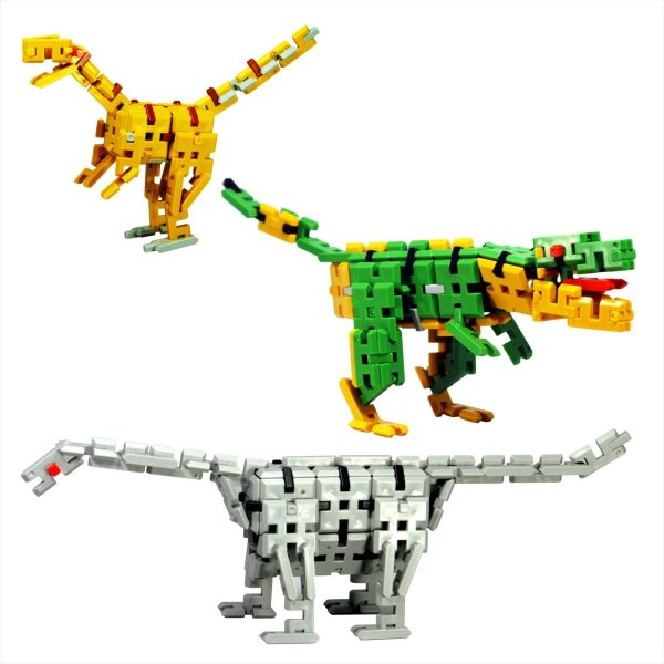 ピーブロック「日本の恐竜セット」知育玩具 教材 組み立て 創造力 複数恐竜 pblock 03