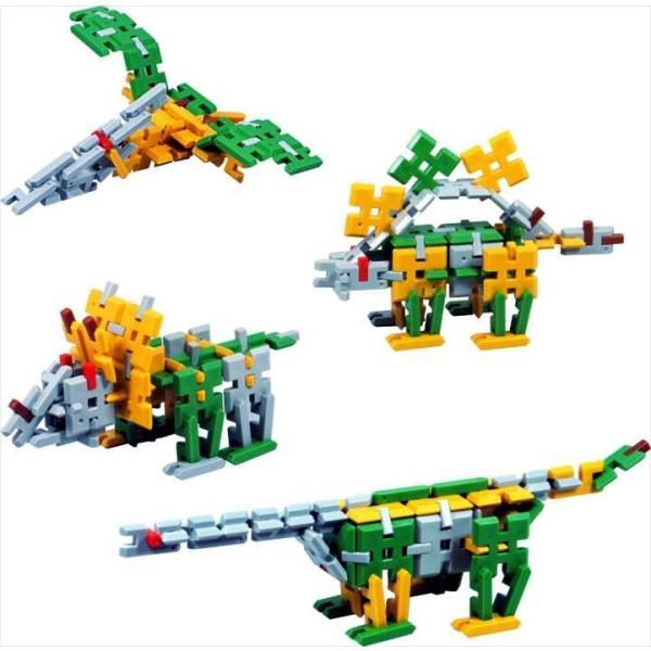 ピーブロック「日本の恐竜セット」知育玩具 教材 組み立て 創造力 複数恐竜 pblock 04
