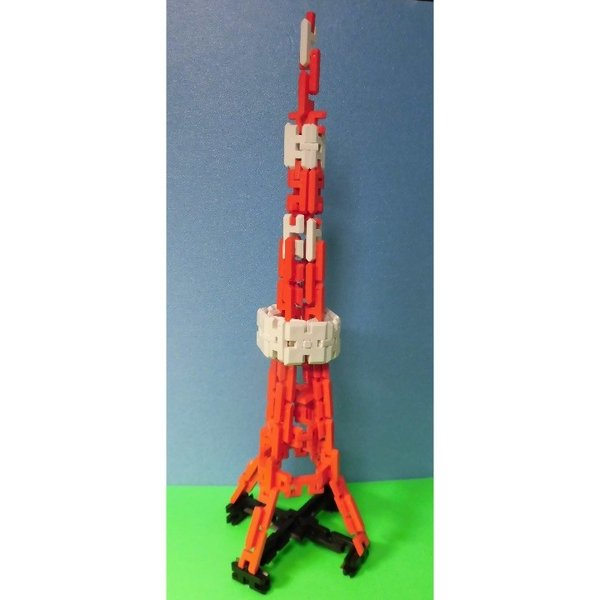 ピーブロック「東京タワーミニALT]セット 知育玩具 教材 組み立て 創造力  アート インテリア タワー|pblock|02