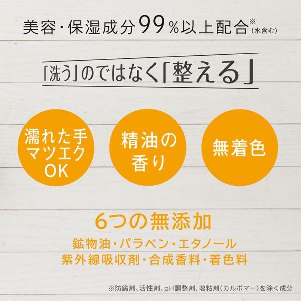 【正規販売店舗】世田谷コスメ 朝用洗顔 泡だて不要 ジェルタイプ 拭き取りOK お試しボトル付き 大容量 225mL|pbt|02