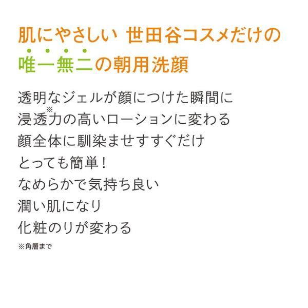 【正規販売店舗】世田谷コスメ 朝用洗顔 泡だて不要 ジェルタイプ 拭き取りOK お試しボトル付き 大容量 225mL|pbt|03