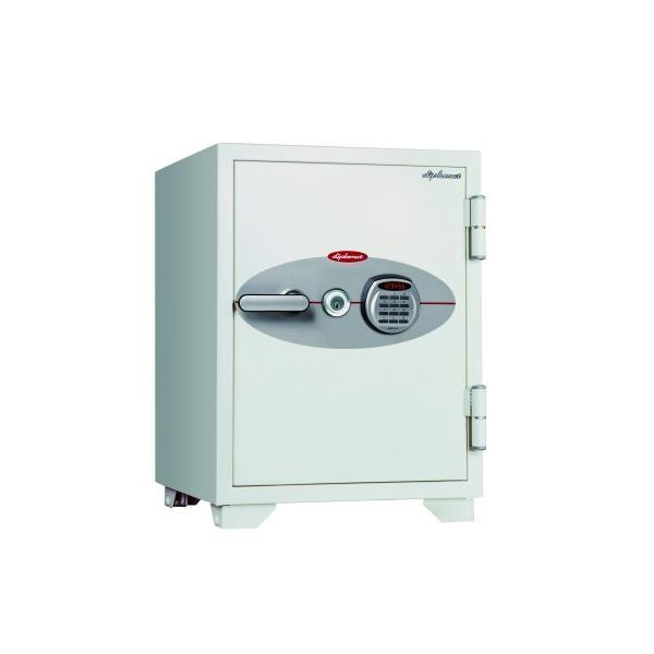 ディプロマット 鍵+デジタルテンキー式 金庫 (R3) 90分耐火 内容量64L 警報アラーム付 070EKR3 オフホワイト