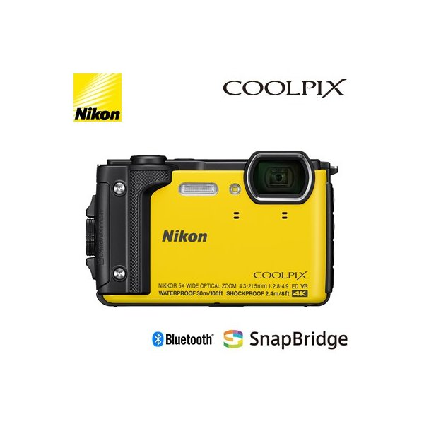 ニコン コンパクトデジタルカメラ COOLPIX W300 イエロー COOLPIX-W300-YW 水深30mまで対応可能