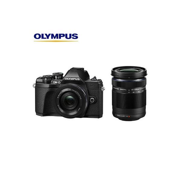 オリンパス デジタル一眼カメラ ミラーレス一眼カメラ OM-D E-M10 Mark III EZダブルズームキット E-M10-MKIII-EZWZK-BK ブラック