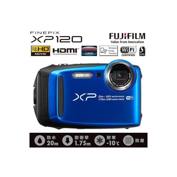富士フイルム デジタルカメラ FinePix XP120 FX-XP120BL ブルー 防水 防塵