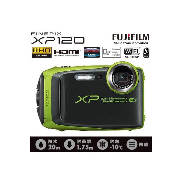 富士フイルム デジタルカメラ FinePix XP120 FX-XP120LM ライム 防水 防塵