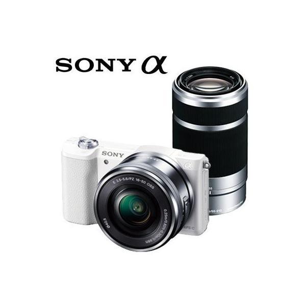 ソニー ミラーレス一眼 デジタル一眼カメラ アルファ α5100 ダブルズームレンズキット ILCE-5100Y-W