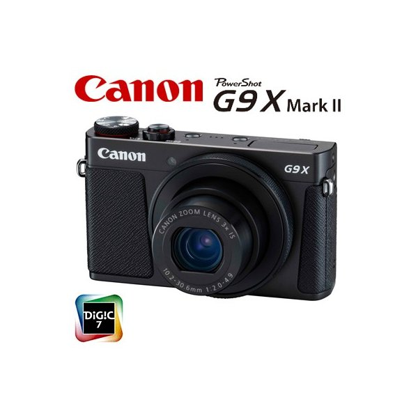 キヤノン コンパクトデジタルカメラ PowerShot G9 X Mark II パワーショット デジカメ コンデジ PSG9X-MARKII-BK ブラック 1717C004