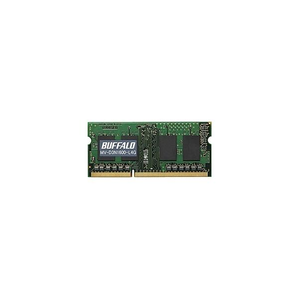 【在庫目安:あり】 バッファロー MV-D3N1600-L4G D3N1600-L4G相当 法人向け(白箱)6年保証 PC3L-12800 DDR3 SDRAM S.O.DIMM 4GB 低電圧