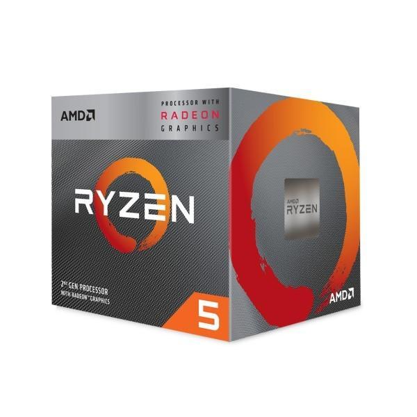 AMD Ryzen 5 3400G YD3400C5FHBOX  [3.7-4.2GHz/4C/8T/AM4] Ryzenプロセッサ Ryzen 5 3400G w/Wraith Spireクーラー