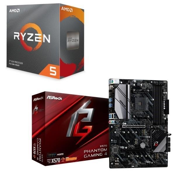 [パーツセット]AMD Ryzen 5 3600 BOX + ASRock X570 Phantom Gaming 4 セット