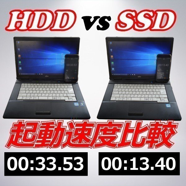 ノートパソコン 中古パソコン Microsoft Office2016付 Win10Pro 第三世代Core i5 メモリ8GB 新品SSD480GB DVDROM HDMI付 無線LAN アウトレット 富士通A573 pc-m 07