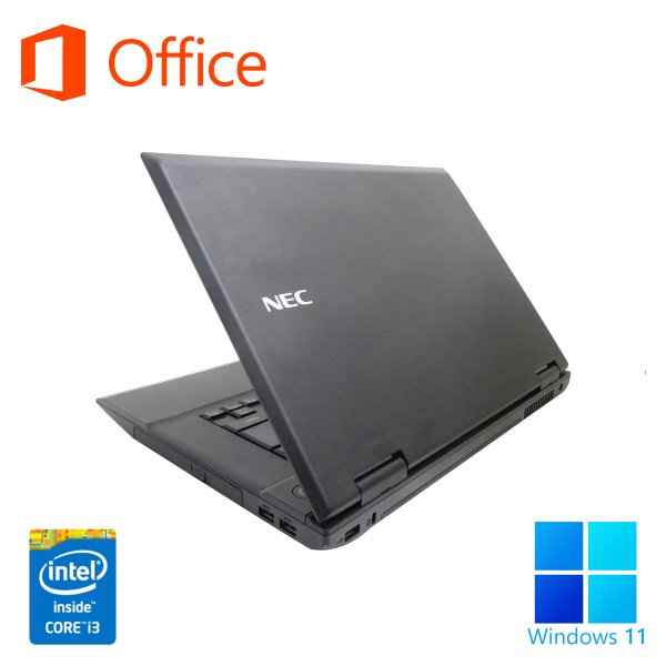 ノートパソコン 中古パソコン Microsoft Office2016 NEC VB-F メモリ8GB HDD500GB 第3世代Corei5 Win10 無線 12型 DVDROM SDポート HDMI アウトレット 訳あり pc-m 03