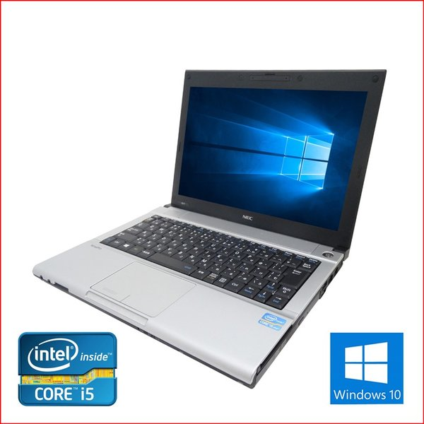 中古 ノートパソコン ノートPC Office2016搭載 Win10  64Bit NEC VB-F 第三世代Core i5 2.6GHz メモリ8GB HDD500GB 12インチ 無線LAN DVDマルチ pc-m 02