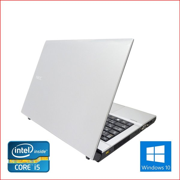 中古 ノートパソコン ノートPC Office2016搭載 Win10  64Bit NEC VB-F 第三世代Core i5 2.6GHz メモリ8GB HDD500GB 12インチ 無線LAN DVDマルチ pc-m 05