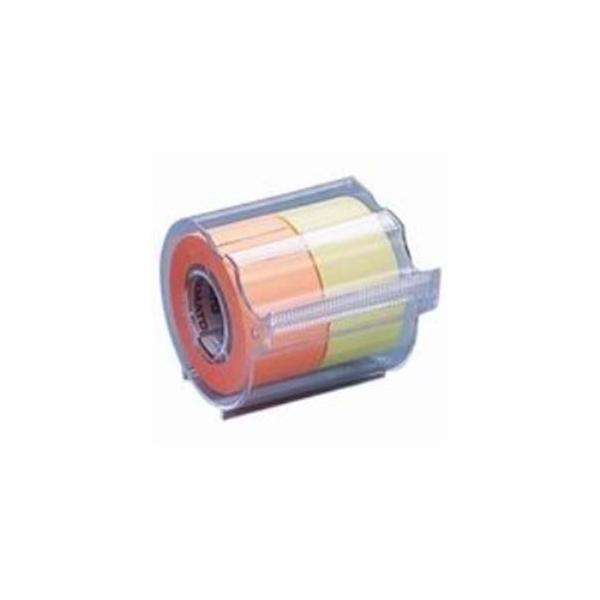 (まとめ)ヤマト メモックロールテープ 蛍光 NORK-25CH6C〔×10セット〕