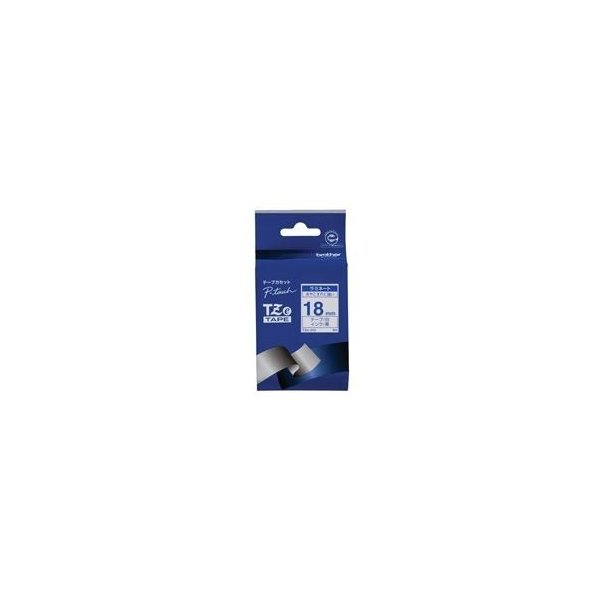 (業務用3セット) brother ブラザー工業 文字テープ/ラベルプリンター用テープ 〔幅:18mm〕 TZe-243 白に青文字