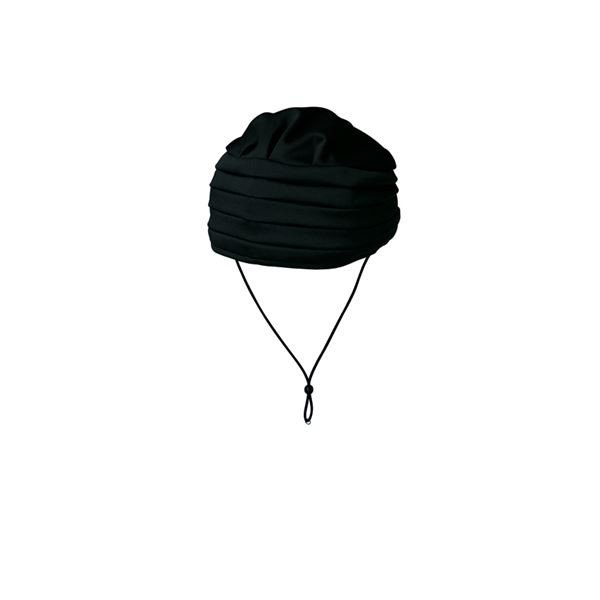 (まとめ)キヨタ 保護帽 おでかけヘッドガードEタイプ(ターバンタイプ)M ブラック KM-1000E〔×2セット〕