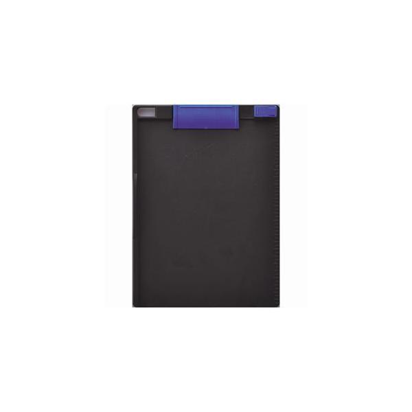 (まとめ) ソニック クリップボード A4タテ 青×ダークグレー CB-307-BG 1枚 〔×15セット〕